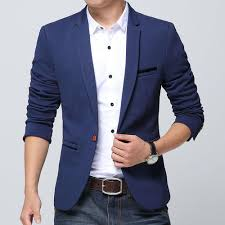 Blue Coat Mens Designer Blue Blazer