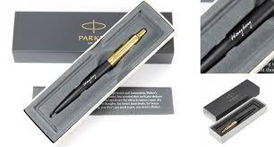 parker jotter premium bond street black gold trim ballpoint pen