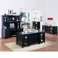 Kathy Ireland Living Room Furniture The Kathy Ireland Tribeca Loft Black Complete Executive Office Set