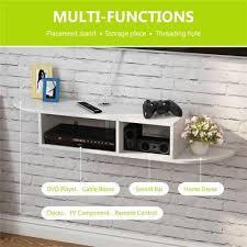 wood floating wall mount console shelf