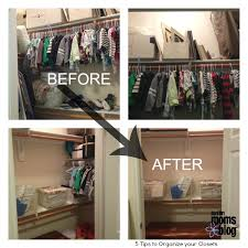 closet reorganization final before and after