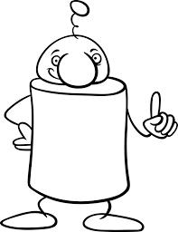 Fantasie Karakter Cartoon Kleurplaat Vector Premium Download