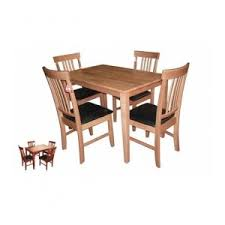 Heartlands Massa Small Wooden Dining Table & 4 Chairs