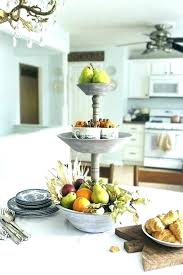 3 tier wood tray stand two enamel with wooden handle 2 tiered the metal and round