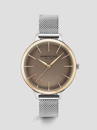 women s watches kenneth cole digital designer watches silver tone stainless steel mesh round watch kenneth cole new york 85 00