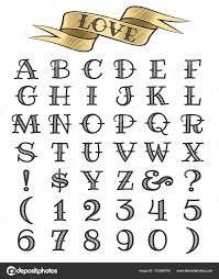 Ručně Tažené Tetování Písmo Stock Vektor Bogadeva 183568790