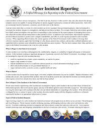 Cyber Incident Reporting Fbi