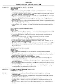 Commercial Finance Manager Sample Resume Commercial Finance Manager Resume Samples Velvet Jobs 6