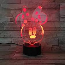 Kids Red Night Light Us 9 93 29 Off Usb 3d Led Night Light Boys Girls Child Kids Baby Gift Hologram Decorative Lights Table Lamp Bedside Minnie Mouse Figure In Led Night