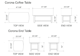 average table height