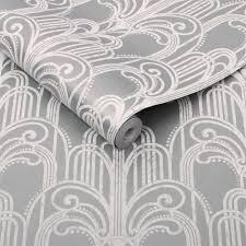 Behang Slaapkamer Zilver