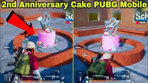 PUBG Mobile 2nd Anniversary Cake