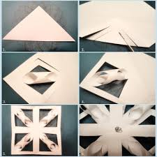 paper snowflakes 3d modern handmade child 3d paper snowflake tutorial
