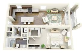 "One "" "" Bedroom Apartment House Plans   Architecture  amp  Design  Axis Wellington Green Apartment"