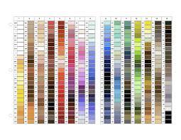 Gutermann Polyester Thread Colour Chart 11 Detailed Gutermann Dekor Thread Color Chart