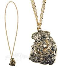 lion face gold rope chain necklace