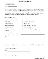 How To Write Up A Written Warning For An Employee Formal Warning To Employee Excessive Absenteeism Write Up Tardiness