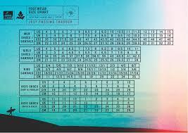 Flip Flop Shoe Size Chart Reef Sandals And Flip Flops Size Charts Jelly Fish Surf Shop