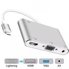 Đầu Chuyển HDMI Cáp Chuyển Đổi 1080P Mới R Cho IPad Pro Mini Bộ Chuyển AV  Kỹ Thuật Số Sang VGA Cho IPhone 8 7 6 Máy Chiếu Kết Nối TV Hỗ