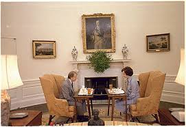 oval office fireplace. Here The Carters Eat In Front Of Fireplace. Actually, I Kind Like This Furniture Arrangement. Love Decor With Gold Damask And Yellow Oval Office Fireplace