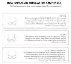 Bra Size Chart Letters Size Chart 8 Mumba Bra