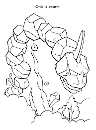 Pokemon Paradijs Kleurplaat Onix Is Enorm