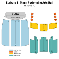 Mann Seating Chart Barbara B Mann Performing Arts Hall Ft Myers Tickets