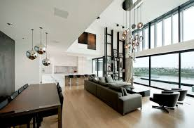 minotti lighting. Inspiration For A Contemporary Open Concept Living Room Remodel In Auckland With White Walls Minotti Lighting