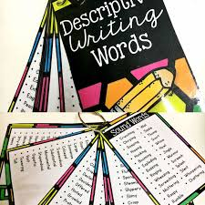 best descriptive words ideas vocabulary create a mini booklet of descriptive words perfect for a writing center or