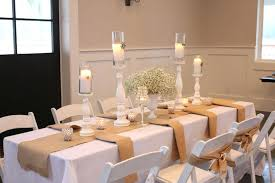 Dining Table Candle Centerpiece Ideas Scented White Candles Wooden Stands  Centerpieces