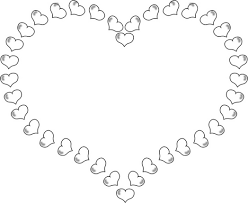Small Picture and roses coloring pages heart shaped border little hearts 100245