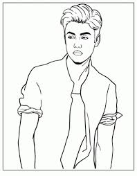 Small Picture Justin Bieber Coloring Pages For Kids Printable Free Throughout