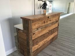 Custom Made Reclaimed Barnwood Reception Desk