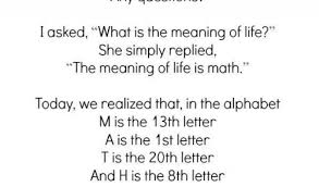 as we it 13th letter of the alphabet letter m best of a couple of days ago when my math teacher asked any questions i