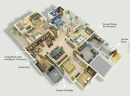 Delightful 50 Four Bedroom Apartment/House Plans