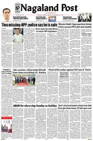 March 28 2019 By Nagaland Post Issuu