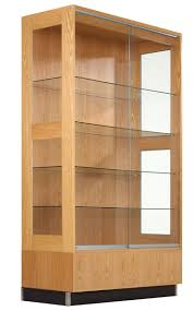 contemporary wall display cabinet feature clear glass display cabinet sliding glass door hardware