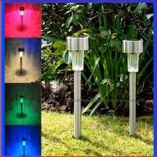 solar lights garden the best option color changing solar powered glass ball led garden
