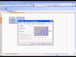 How To Create A Bar Chart In Excel 2003 Creating A Bar Chart Using Excel 2003