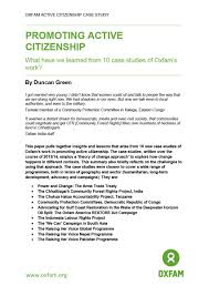 active citizenship case studies and synthesis paper