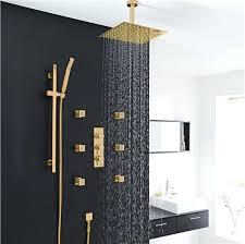 gold shower set with jet shower head set installation instructions best large rain shower head