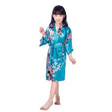 <b>2017 New</b> Wedding Kid Robe <b>Satin</b> Prom Children Gown Flower ...