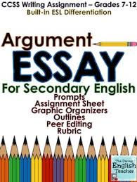 english essay writing and high school english on pinterest argument essay for middle and high school english classes includes esl differentiation a peer