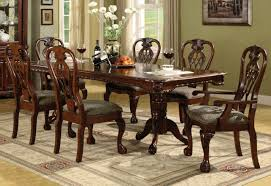 Two Pedestal Dining Table Crown Mark Brussels Double Pedestal Dining Table In Luscious Brown