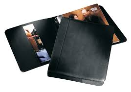 leather bound 3 ring binder