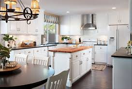 give your kitchen a facelift with new countertops mixing butcher block and solid surface countertops