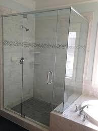 corner shower door frameless glass doors do leak compare framed vs semi