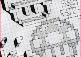 Grid Paper Drawings 213278 Graph Paper Drawing Ideas Juve