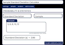 Standard Deviation Chart Online Standard Deviation Calculator