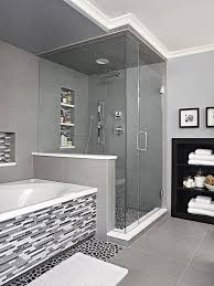 Ultimate Storage-Packed Baths | River rock floor, Vanity backsplash and Tub  surround